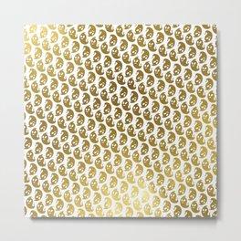 Ghosts! - Gold Metal Print