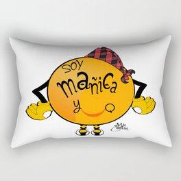soy mañica y qué! Rectangular Pillow