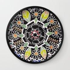 fleur indienne Wall Clock