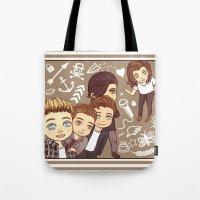 1d Tote Bags featuring 1D selfie by susumzee
