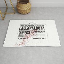 Lallapalooza Poster Rug