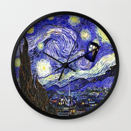 TARDIS STARRY NIGHT Wall Clock