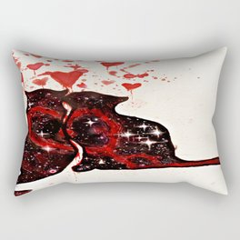 Valetine's Day Heart Space Cats Rectangular Pillow