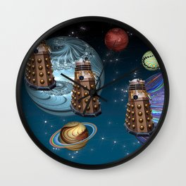 March Of The Daleks Wall Clock