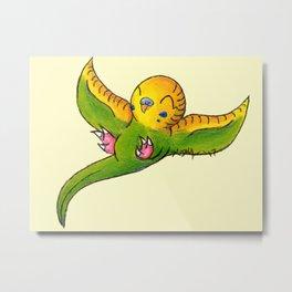 Little Green Parakeet Metal Print