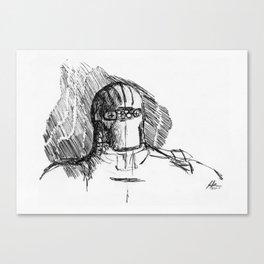 Warbot Sketch #037 Canvas Print