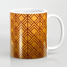 Cascading Squares Pure Copper - Art Deco Pattern Coffee Mug