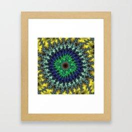 Fractal Target Framed Art Print