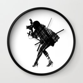 Caugt in Action Wall Clock