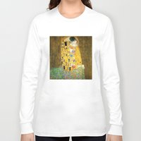 klimt Long Sleeve T-shirts featuring Gustav Klimt The Kiss by Art Gallery