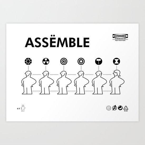The Avengers X IKEA Mashup Art Print