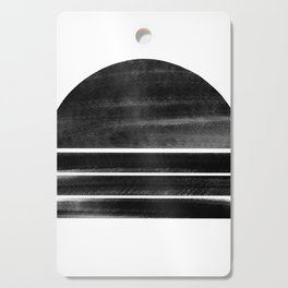 black and white shapes Cutting Board