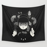 witchcraft Wall Tapestries featuring Sacrifice by LordofMasks