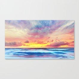Lonas planet stormy evening Canvas Print