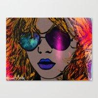 blondie Canvas Prints featuring BLONDIE by AZZURRA DESIGNS