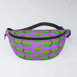 The happy eyes of freedom in polka dot cartoon pop art Fanny Pack