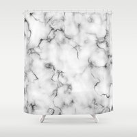 marble Shower Curtains featuring Marble by Will Wild