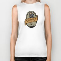 middle earth Biker Tanks featuring Gandalf's Middle earth tour by SuperEdu