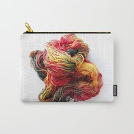 Autumn / Fall Colored Wool Yarn Carry-All Pouch