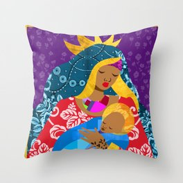 Virgin Mary and Child Throw Pillow