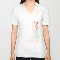 pastel V-neck T-shirts featuring Pastel by Anoosha Syed