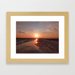 Siesta Key Sunset Framed Art Print