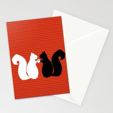 Animals Illustration - Squirrels Stationery Cards