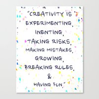 creativity Canvas Prints featuring Creativity  by Madison Daniels