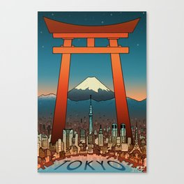 Tokyo Travel Poster Canvas Print