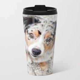 Australian Shepherd Metal Travel Mug