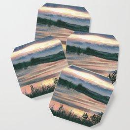 Summer Sunset at Baker Wetlands Painting Coaster