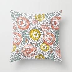 Desert Blossom Throw Pillow