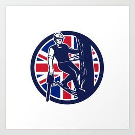 British Arborist Union Jack Flag Icon Art Print
