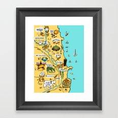 Chicago Food Map Framed Art Print
