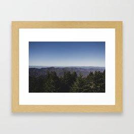 Mount Mitchell View Framed Art Print