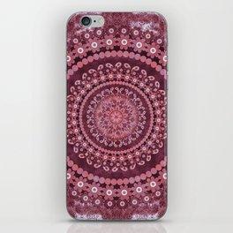 Boho Rosewood Mandala iPhone Skin