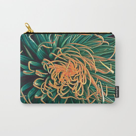 Green & orange succulent Carry-All Pouch