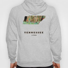 Tennessee state map modern Hoody