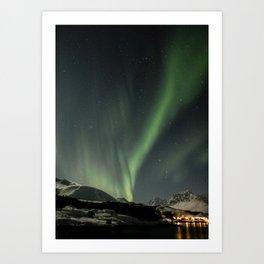 Northern Light Show Natural Fireworks Photo | Aurora Borealis Norway Art Print | Travel Photography Art Print