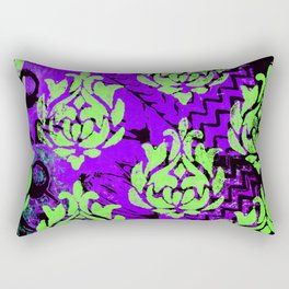 Green Damask Rectangular Pillow