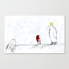 The King of All Penguins Canvas Print