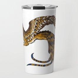 On Wings of Gold Travel Mug