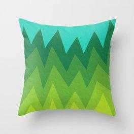 Green Summer Forest Throw Pillow