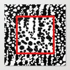 Dalmatian Dot Splatter Canvas Print