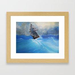 The Roiling Wake Framed Art Print