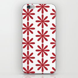 The Simple But Very Red Flower iPhone Skin