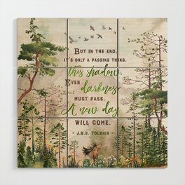 But in the end Wood Wall Art