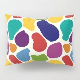 Rainbow Giraffe Splotches Pillow Sham