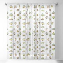 FARM LOGOS Sheer Curtain