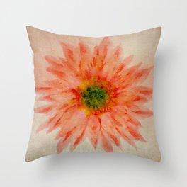 salmon flower Throw Pillow